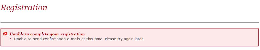 Error Message on trying to register with the Royal Greenwich Online Planning system