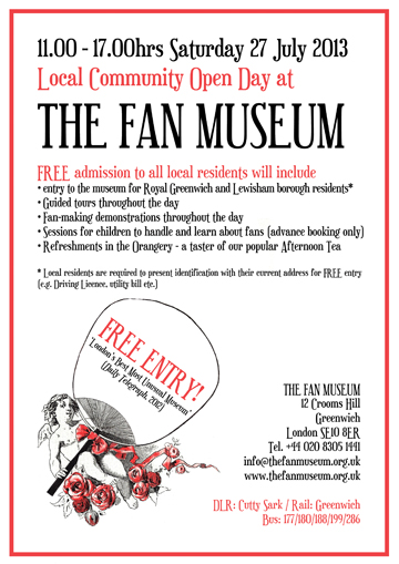 Local Community Open Day at The Fan Museum Poster