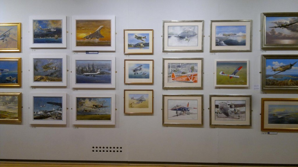 Colin's three watercolours at the Aviation Paintings of the Year exhibition