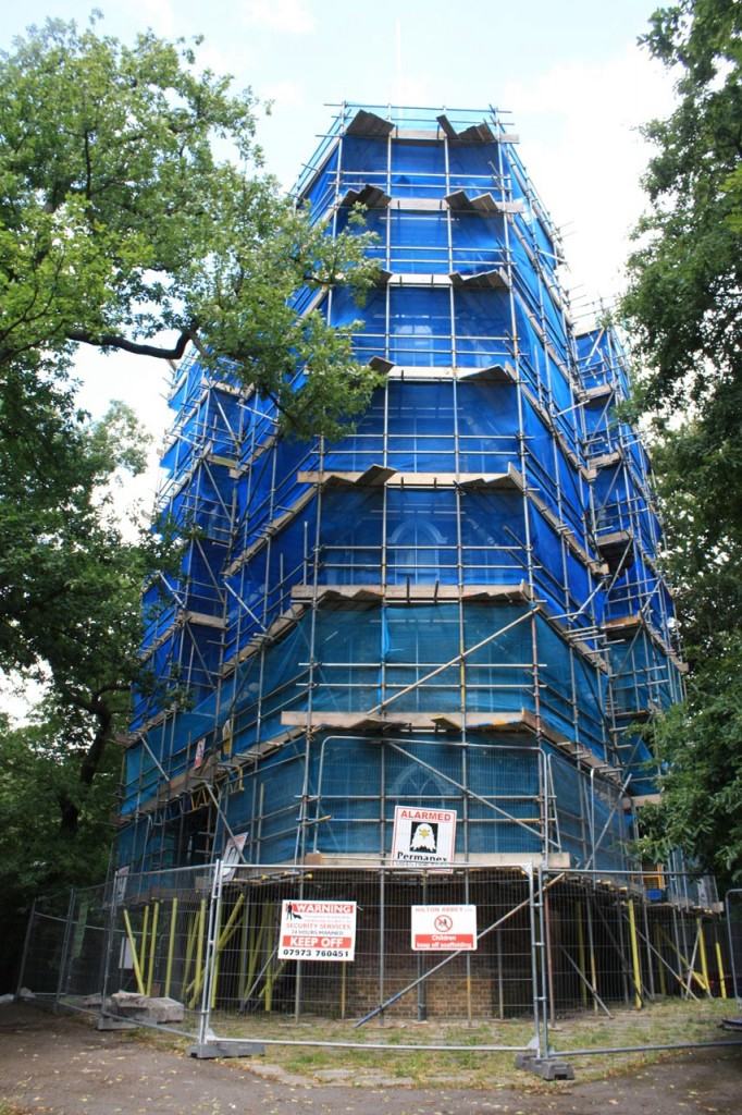 Severndroog Castle under wraps