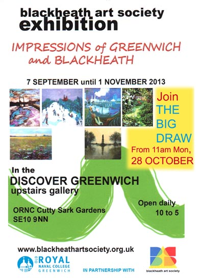 Blackheath Art Society Autumn Exhibition Flyer