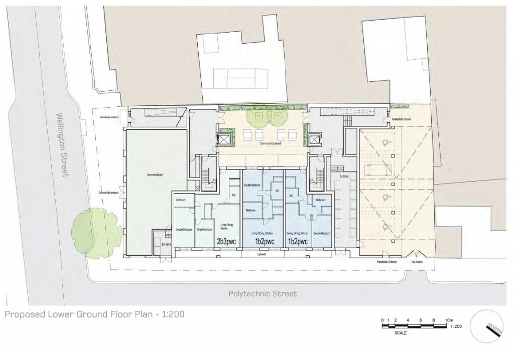 bptw partnership and whiteroom architecture Lower Ground Floor Plan for 38 Wellington Street