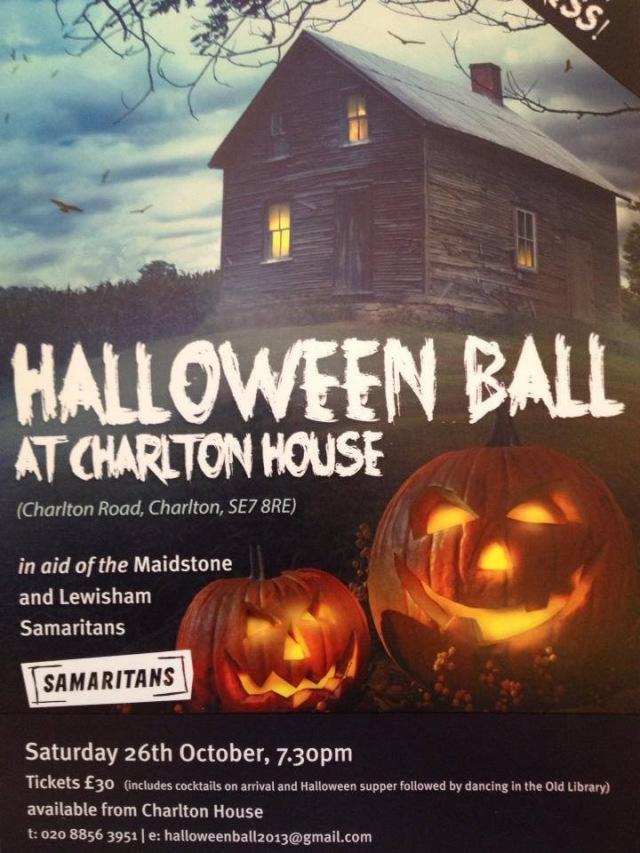 Samaritans halloween ball poster