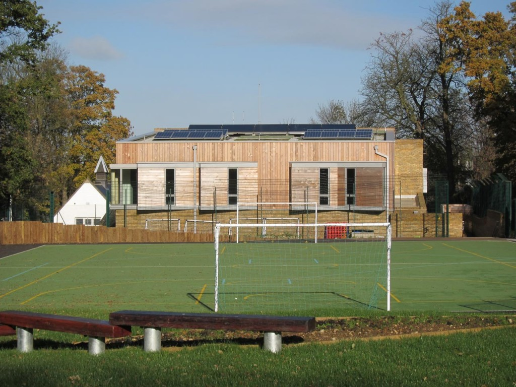 Christ Church School's new building and the MUGA Court