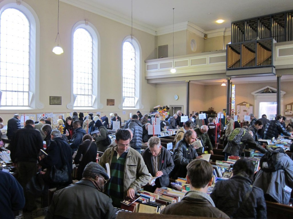 Shoppers at the Amnesty International Book Sale
