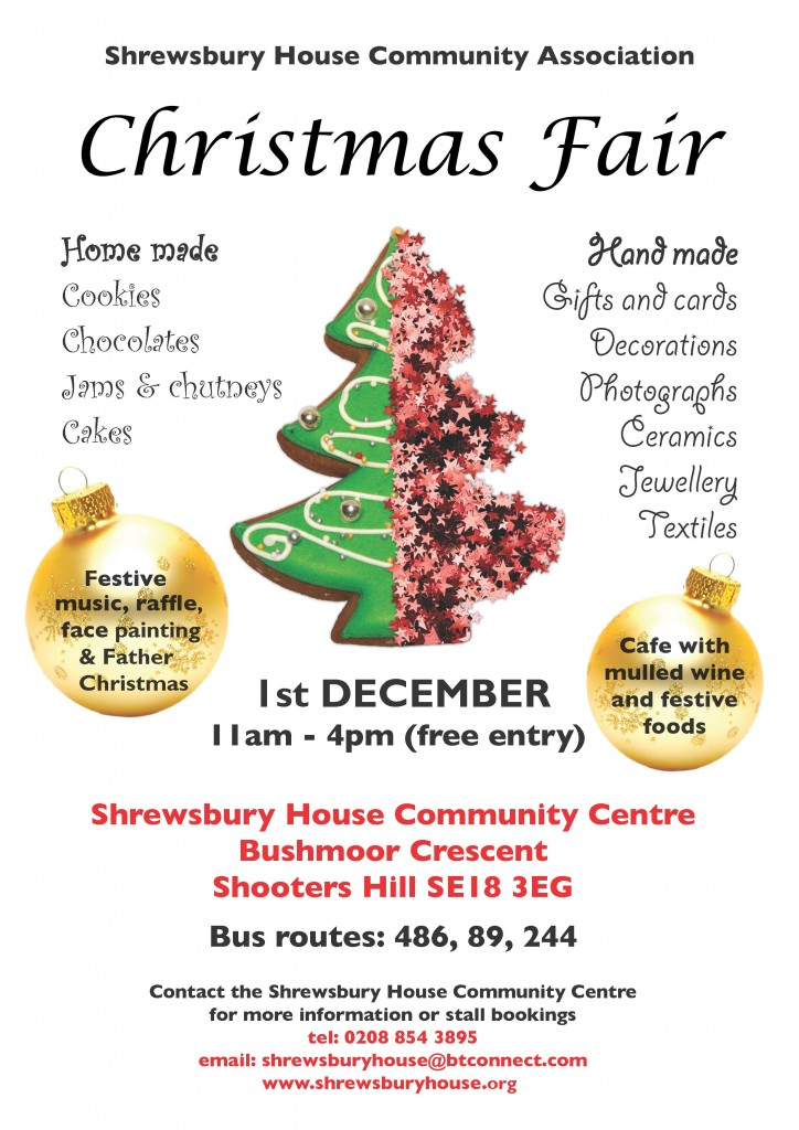 Shrewsbury House Christmas Fair poster