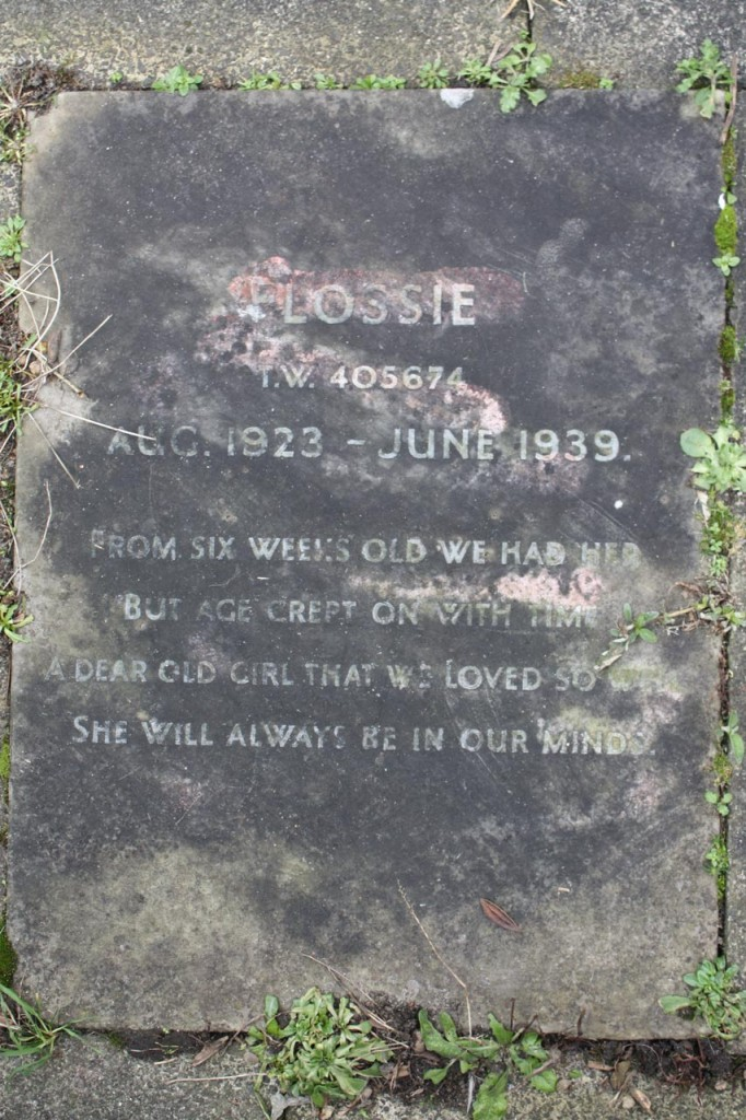 Headstone in the pet cemetery, Hornfair Park