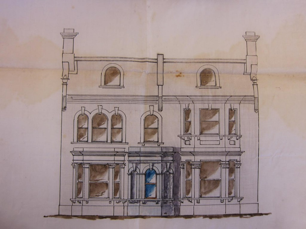 Drawing of proposed new portico for Bonnie Blink