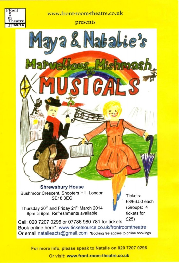 Maya and Natalie's Marvellous Mishmash of Musicals leaflet
