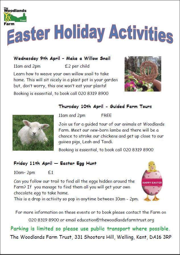Easter Holiday Activities poster