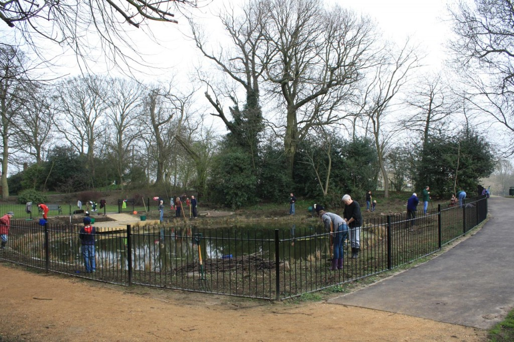 Eaglesfield Gardeners at the Lilly Pond March 2012