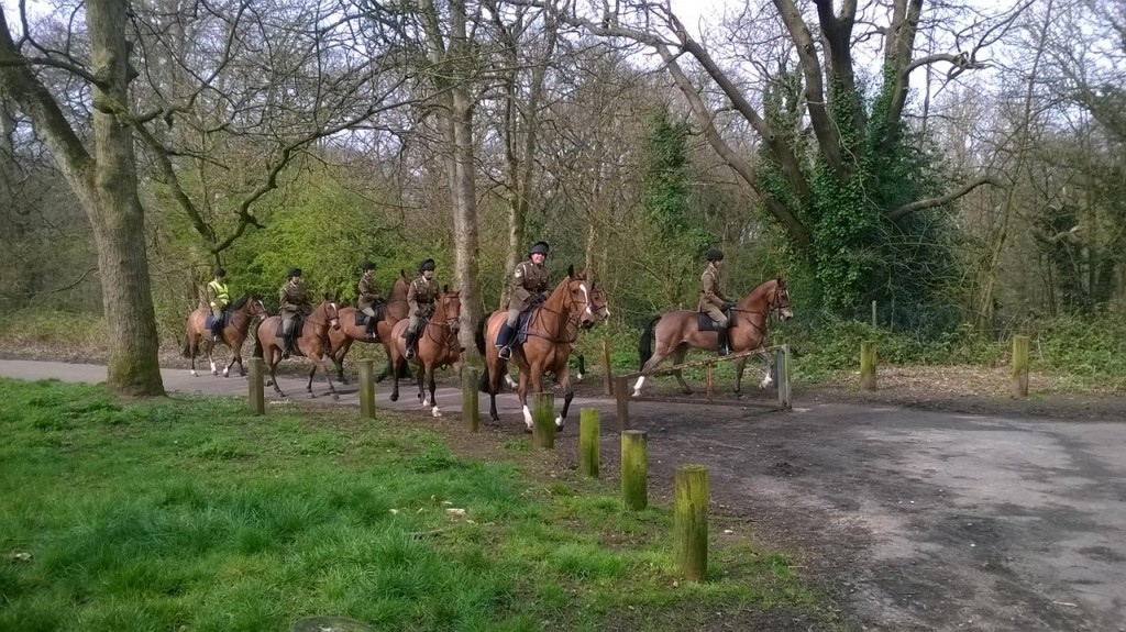 Horse riders near Severndroog Castle