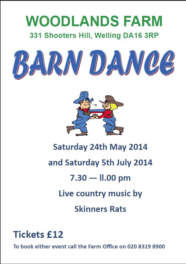 Woodlands Farm Barn dance poster