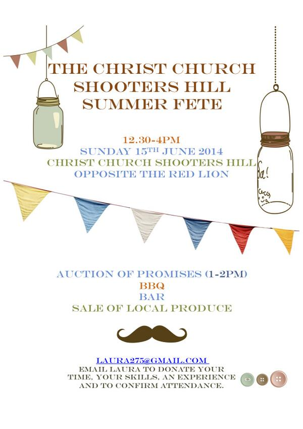 Christ Church Summer Fête Poster
