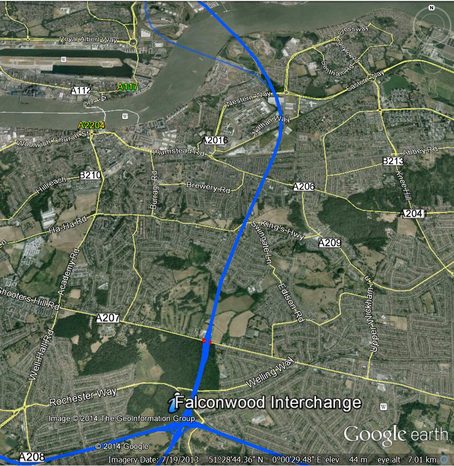 CBRD (Chris's British Road Directory) Google Earth overlay for Ringway 2
