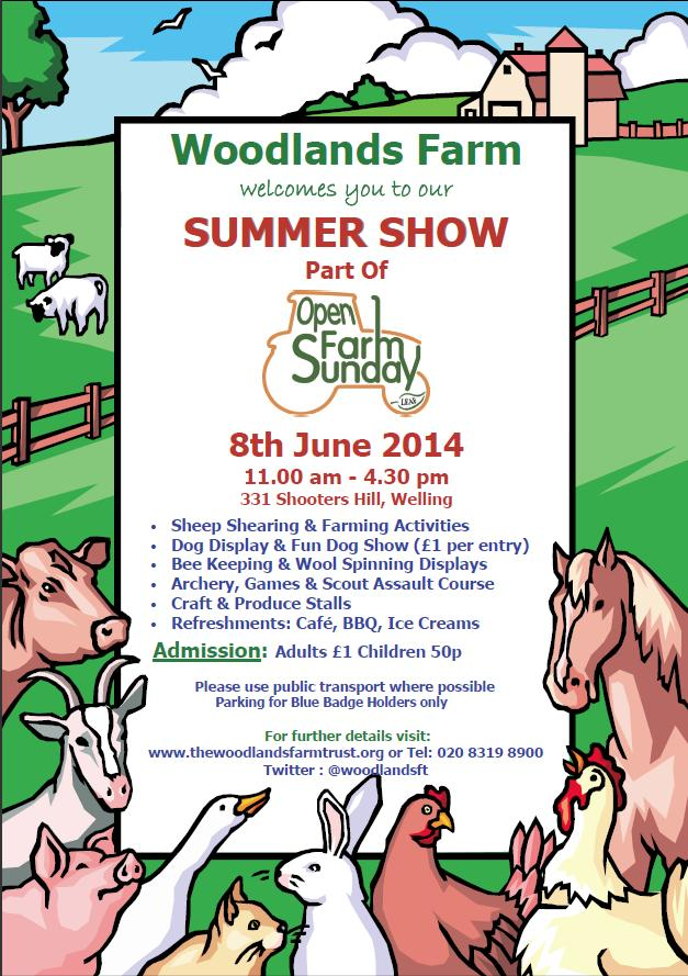 Woodlands Farm Summer Show Poster