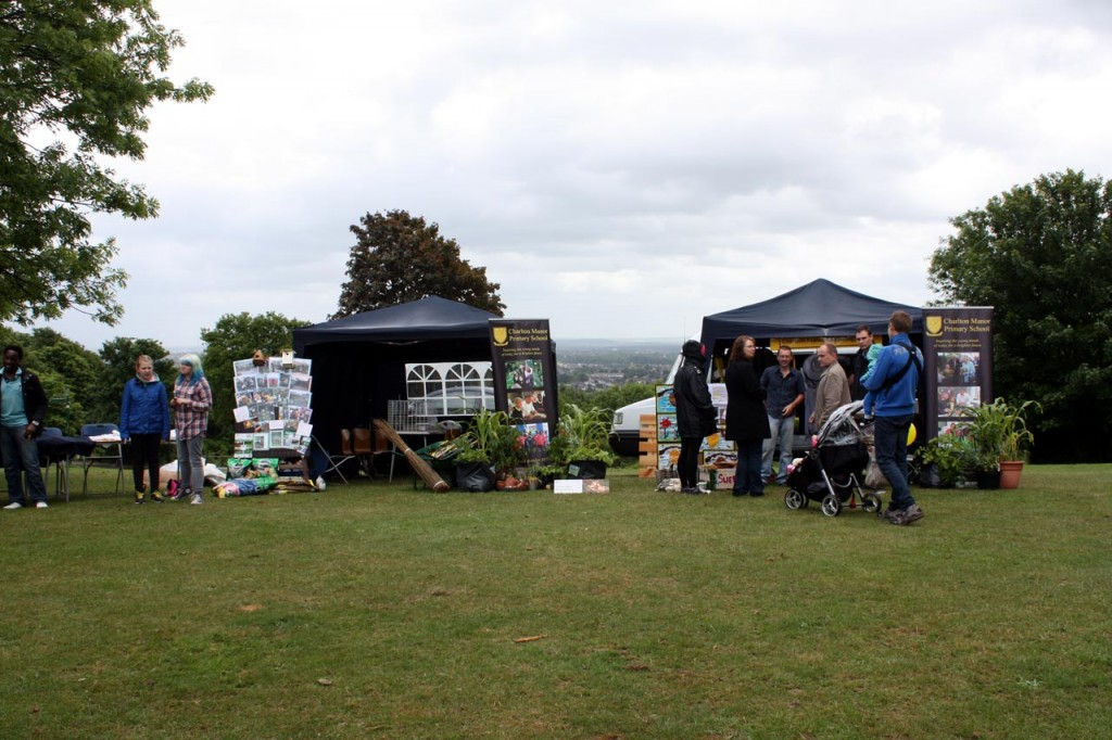 Stalls at Eaglesfield Park Neighbourhood Watch Community Fête