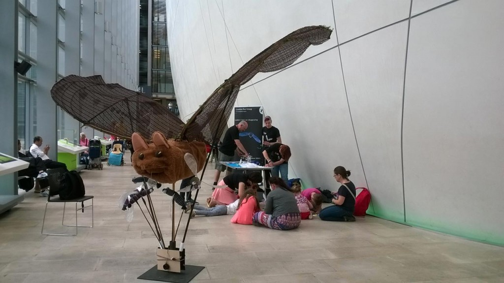 Biggles the giant Pipistrelle at Bat Fest at the Natural History Museum