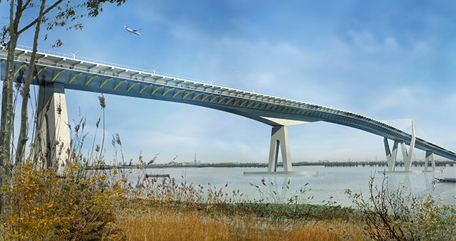 HOK and Arup design for proposed Thames crossing bridge