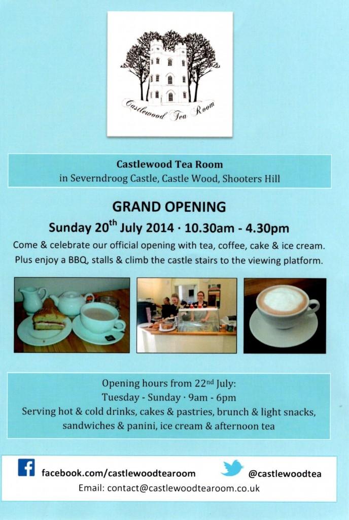 Castlewood Tea Room Leaflet