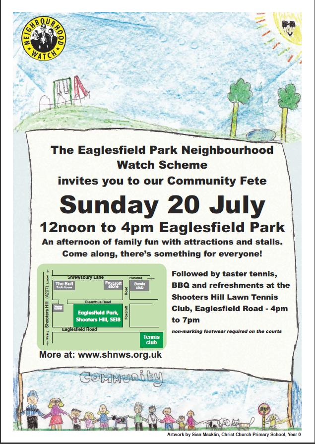 EPNWS Community fete Poster