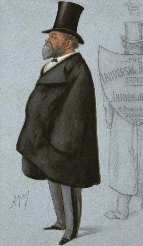 Charles Robert Claude Wilde, 2nd Baron Truro by Carlo Pellegrini watercolour, published in Vanity Fair 1 January 1887 12 1/4 in. x 7 1/8 in. (311 mm x 181 mm) Purchased, 1970 Primary Collection NPG 4749 © National Portrait Gallery, London