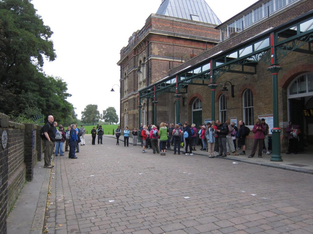 Green Chain Megawalkers gather at Crystal Palace Station