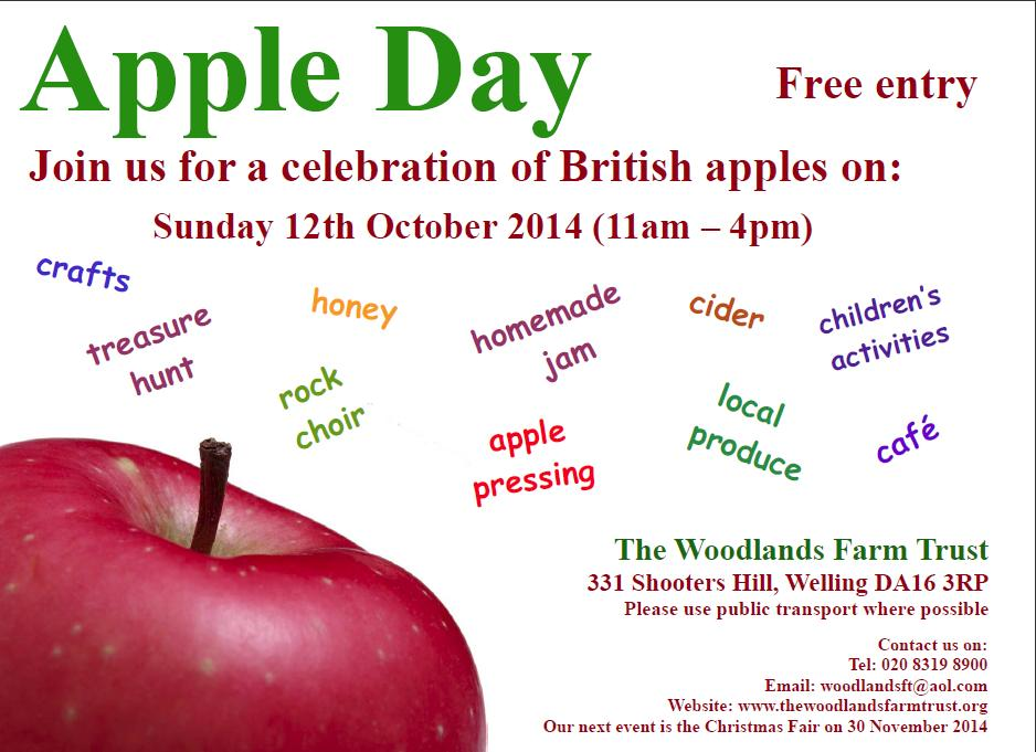 Woodlands Farm Apple Day Poster 2014