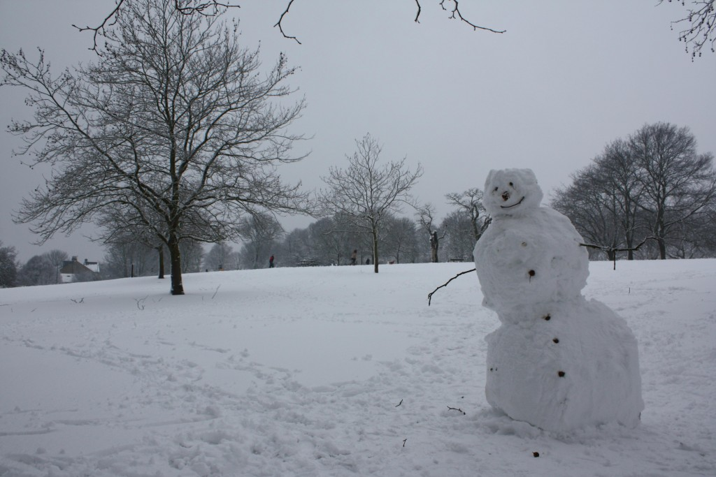 Snowman in Eaglesfield Park