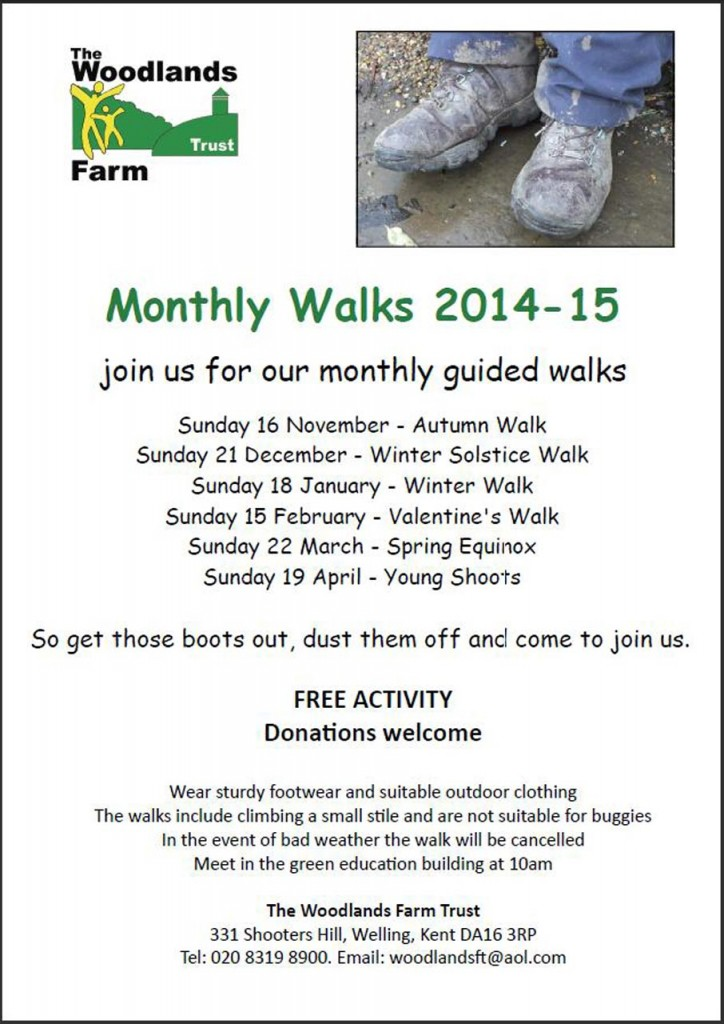 Woodlands Monthly Walks Poster
