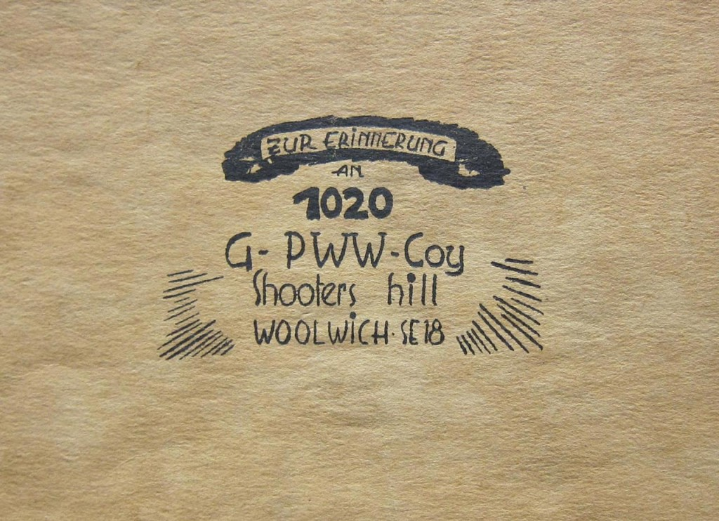 "Front cover of ""Zur Erinnerung an 1020"" from the Greenwich Heritage Centre"