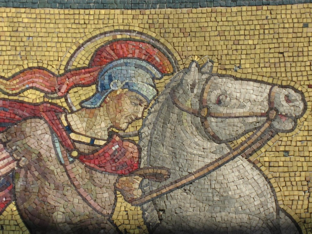St George shown in the Victoria Cross Memorial mosaic in St George's Garrison Church Woolwich