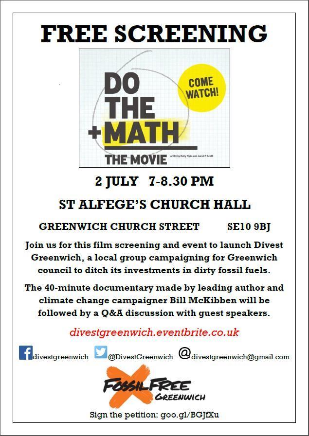 Divest Greenwich Flyer