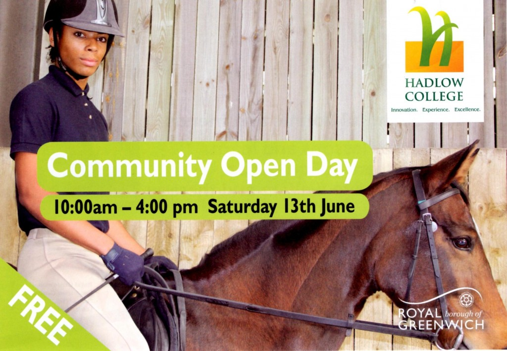 Equestrian Centre Community open day leaflet