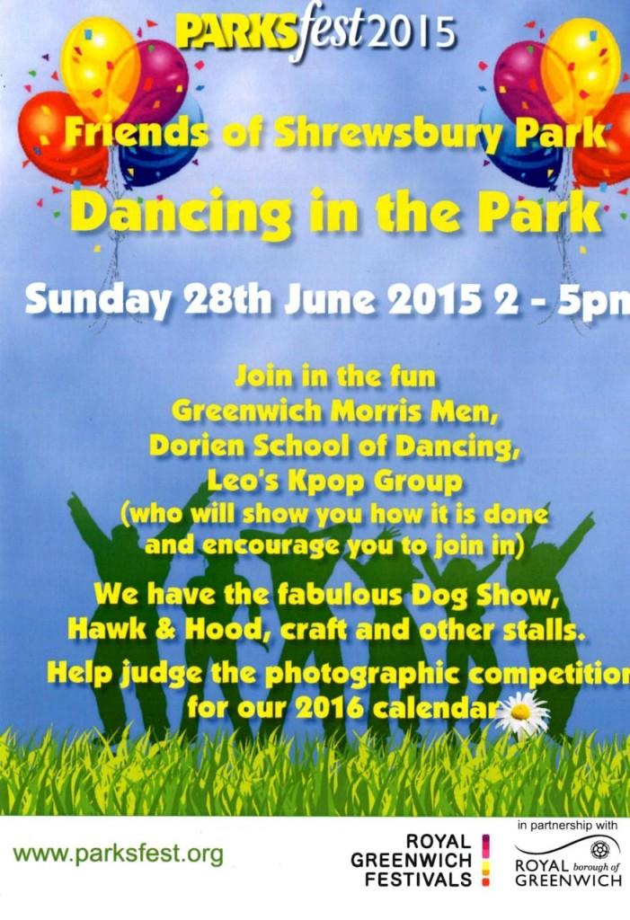 Shrewsbury Park Summer Festival 2015 leaflet