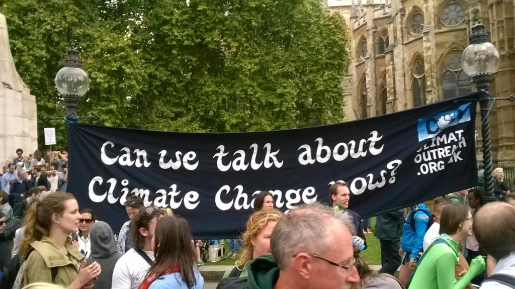 London climate change march 21st September 2014