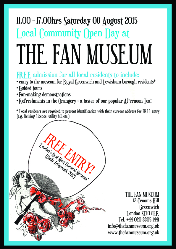 Fan Museum Open Day Flyer