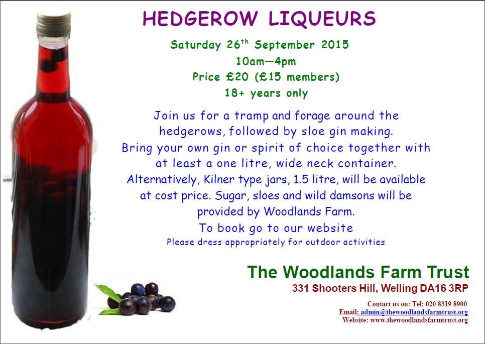Hedgerow liqueurs 2015 poster