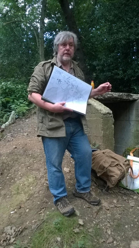 Andy Brockman at Colonel Bagnold's air raid shelter