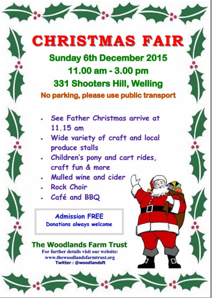 Woodlands Farm Christmas Fair Poster 2015