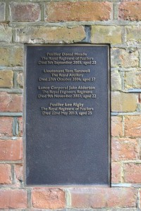 Plaque on memorial to the fallen of Woolwich in St George's Garrison Church