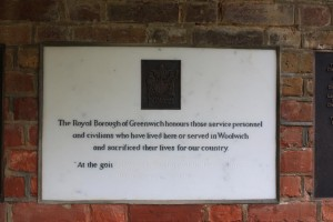 Memorial to the fallen of Woolwich in St George's Garrison Church