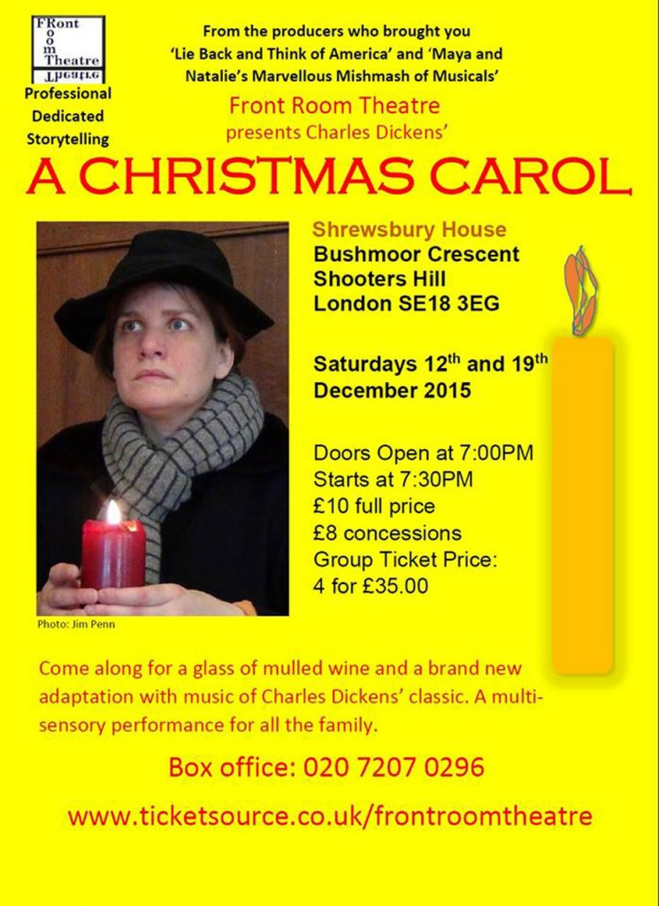 Front Room Theatre A Christm,as Carol flyer
