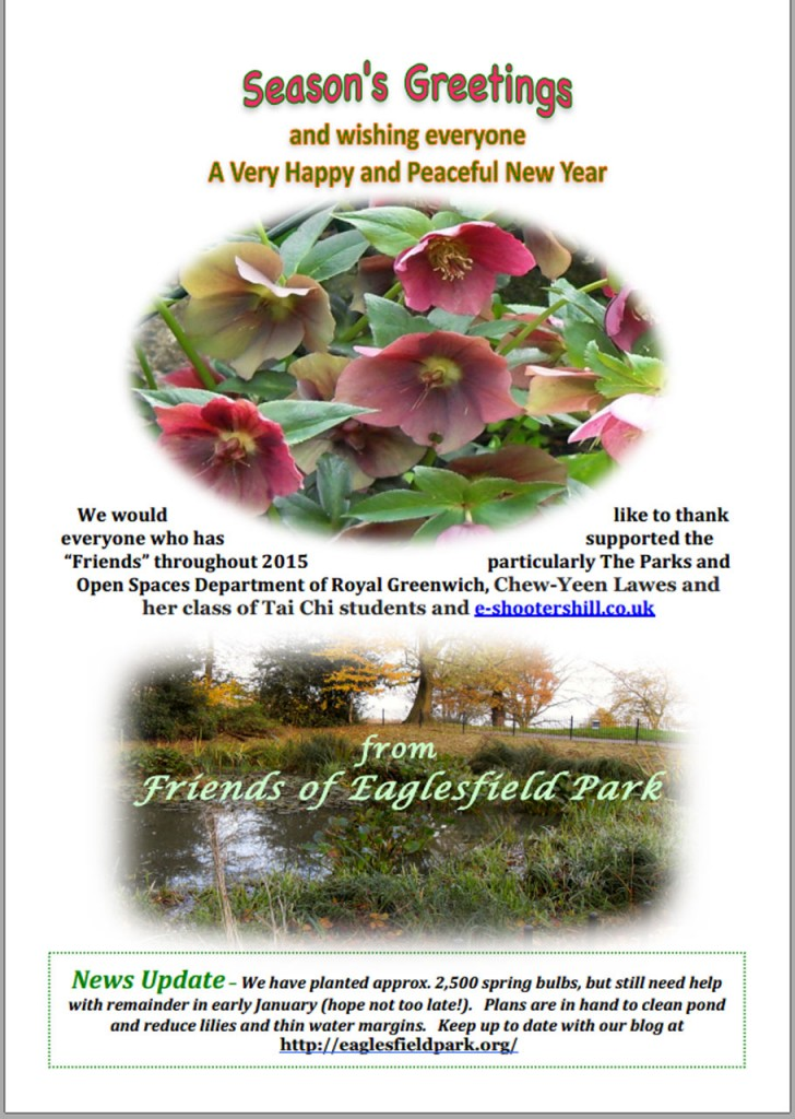 Friends of Eaglesfield Park Christmas Card 2015