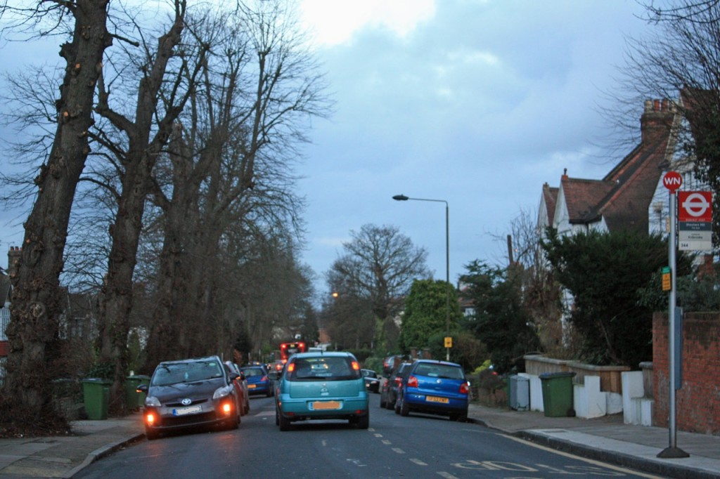 Traffic in Shrewsbury Lane