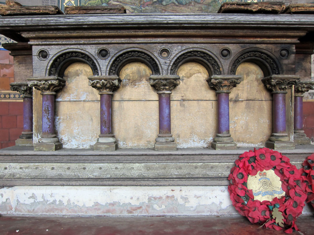 Detail of the altar at St George's