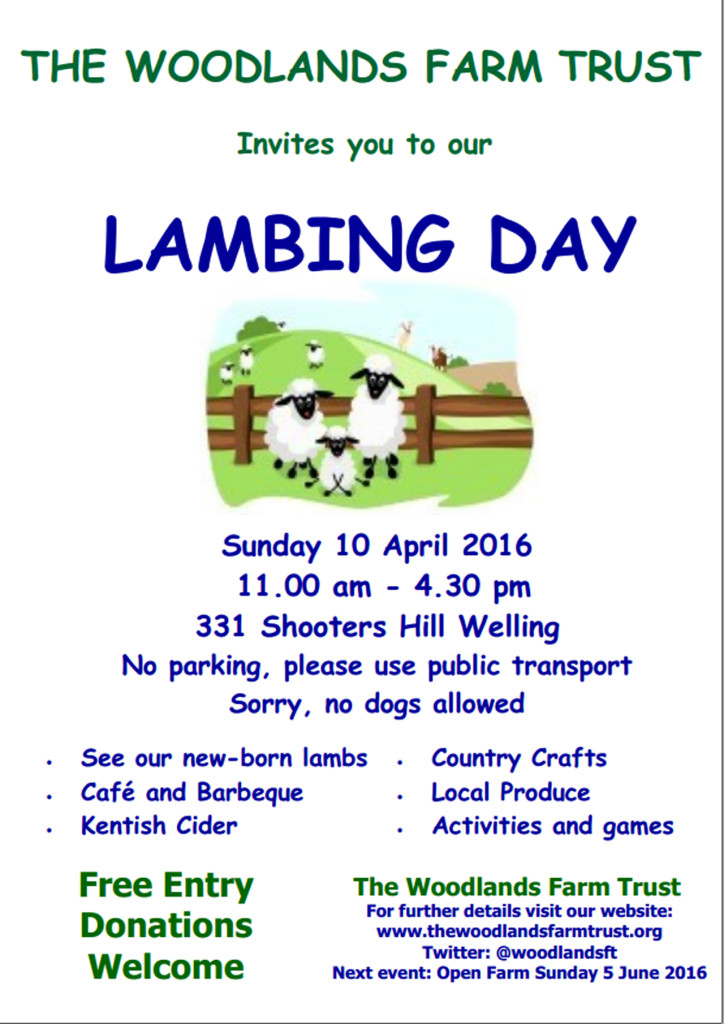 Woodlands Farm Lambing Day 2016 Poster