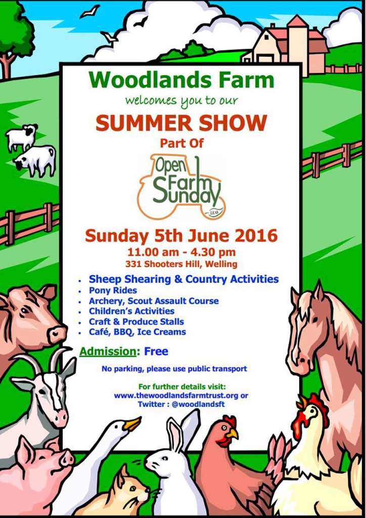 Woodlands Farm Summer Show 2016 poster