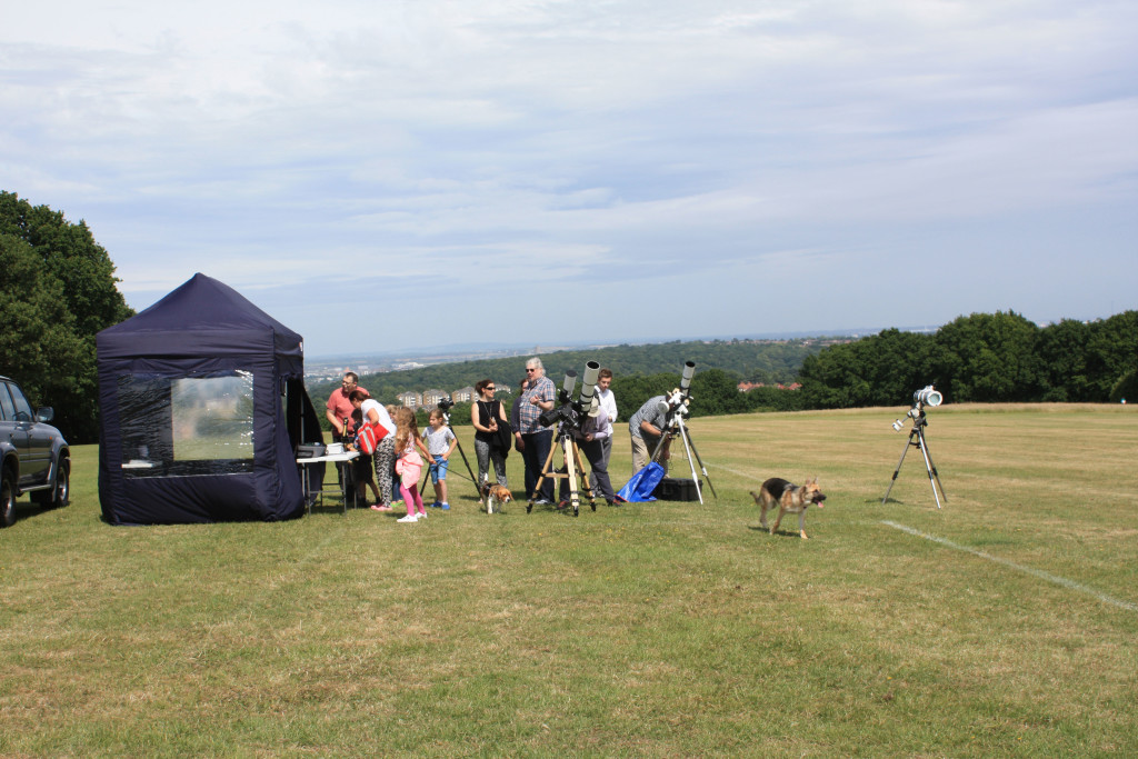 Solar telescopes at the 2015 Shrewsbury Park Summer Festival
