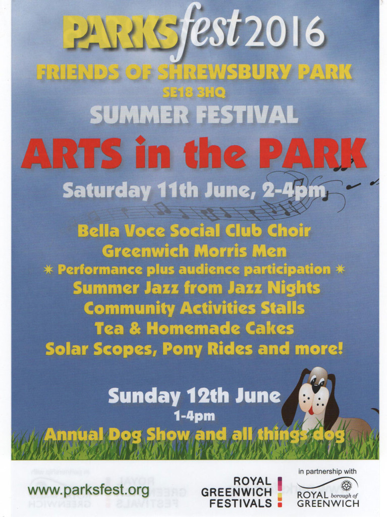 Friends of Shrewsbury Park Parksfest leaflet